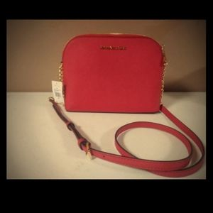 Michael Kors Cindy Dome Crossbody Bag, Bright Red